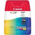** Inkousty Canon CLI-526 C,M,Y originální, multipack, 3 barvy, 3 x 9 ml