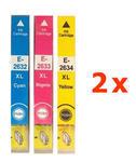 ** Sada 6 inkoustů T2632,3,4 / 26XL do Epson se slevou 11 % !!