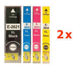 ** Sada 8 inkoustů T2621, T2632,3,4 / 26XL do Epson se slevou 14 % !!