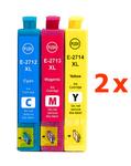 ** Sada 6 inkoustů T2712,3,4  / 27XL do Epson se slevou 15 % !!