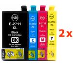 ** Sada 8 inkoustů T2711,2,3,4  / 27XL do Epson se slevou 20 % !!
