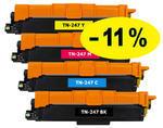 ** Sada 4 tonerů CMYK kompat. s Brother TN-247 se slevou 11 % !!