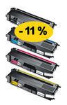 ** Sada 4 tonerů CMYK kompatibilní s Brother TN-326 se slevou 11 % !!
