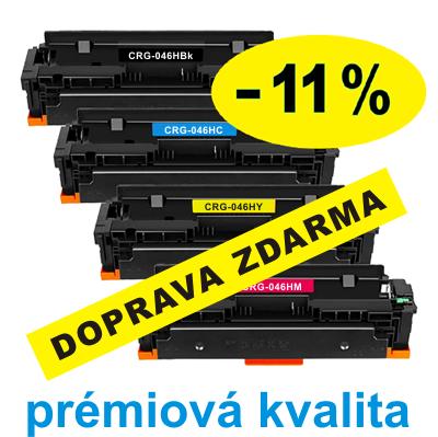 ** Sada 4 tonerů Canon CRG-046H CMYK kompatibilní sleva 11 % !! - PRÉMIUM - 1