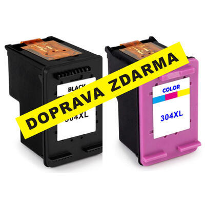 Inkousty HP 304XL / N9K08AE + N9K07AE kompatibilní, černý + barevný, sada