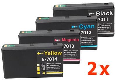 ** Sada 8 inkoustů Epson T7011 T7012 T7013 T7014 XXL kompatibilní - sleva 15 % !!