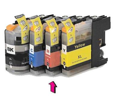 Inkoust LC-123M kompatibilní s Brother LC-123M, purpurový, 10 ml !!