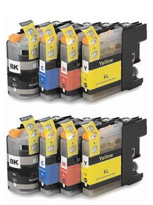 ** Sada 8 inkoustů LC-123 CMYK do tiskáren Brother se slevou 20 % !!