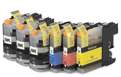 ** Sada 6 inkoustů LC-123 CMYK kompatibilní s Brother se slevou 15 % !!