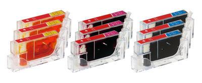 ** Sada 9 inkoustů Canon CLI-526C,M,Y kompatibilní, sleva 15 % !!