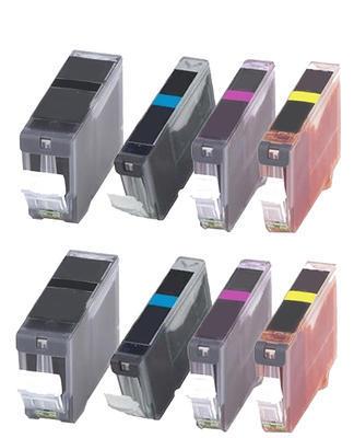 ** Sada 8 inkoustů =S=ČIPEM= PGI-520 + CLI-521C,M,Y se slevou 15 % !!