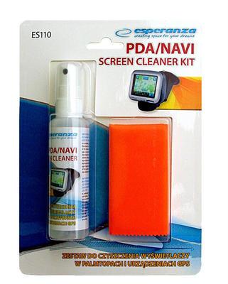 Čisticí sada pro tablety, PDA, telefony, navigace, 60 ml, hadřík - zn. Esperanza