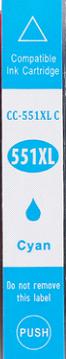 Inkoust CLI-551C XL kompat. s Canon CLI-551C XL, azurový, 12 ml !!