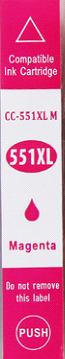 Inkoust CLI-551M XL kompat. s Canon CLI-551M XL, purpurový, 13 ml !!