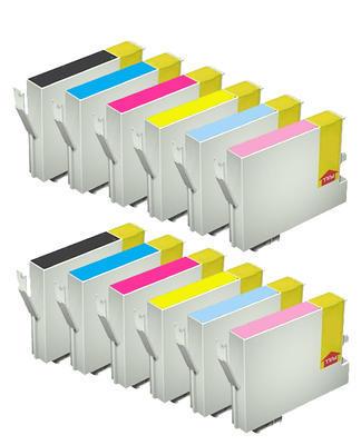 ** Sada 12 inkoustů T0481,2,3,4,5,6 do tiskáren Epson se slevou 20 % !!