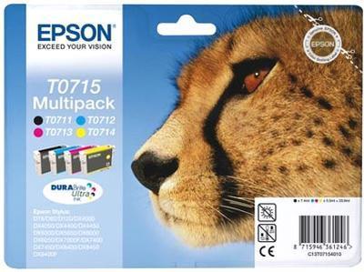 ** Inkousty Epson T0715, multipack, 4 barvy T0711+T0712+T0713+T0714