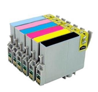 ** Sada 6 inkoustů T0801,2,3,4,5,6 do tiskáren Epson se slevou 10 % !!