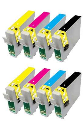 ** Sada 8 inkoustů Epson T1291 T1292 T1293 T1294 kompatibilní - sleva 20 % !!