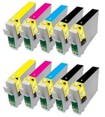 ** Sada 10 inkoustů Epson T1281 T1282 T1283 T1284 kompatibilní - sleva 23 % !!