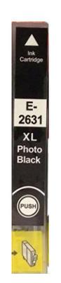 Inkoust T2631 kompatibilní s Epson T2631 / 26XL, foto černý, 12 ml !!