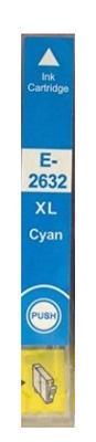 Inkoust T2632 kompatibilní s Epson T2632 / 26XL, azurový, 12 ml !!