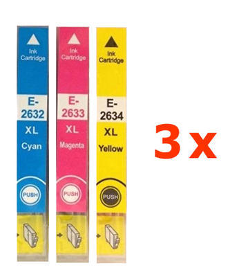 ** Sada 9 inkoustů T2632,3,4 / 26XL do Epson se slevou 16 % !!