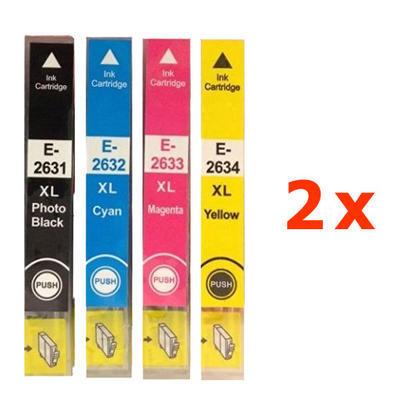** Sada 8 inkoustů T2631, T2632,3,4 / 26XL do Epson se slevou 14 % !!