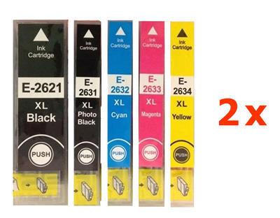 ** Sada 10 inkoustů Epson 26XL / T2621, T2631, T2632, T2633, T2634 se slevou 18 % !!