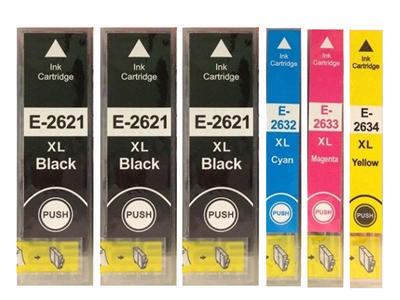 ** Sada 6 inkoustů T2621, T2632,3,4 / 26XL do Epson se slevou 11 % !!