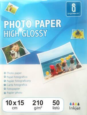Fotopapír lesklý 10x15, 210 g, 50 listů
