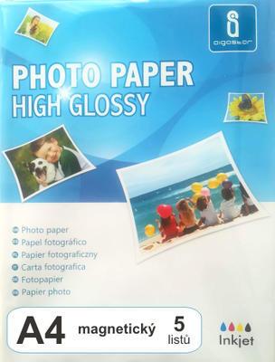 Fotopapír magnetický, lesklý A4, 5 listů