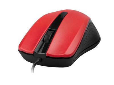 Gembird optická myš 1200 DPI, USB, červeno-černá, 3 tlačítka - 1