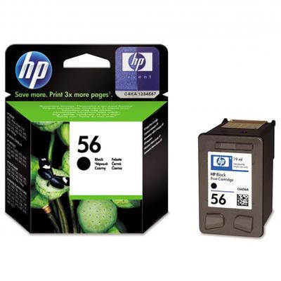 Inkoust HP 56 / C6656A originální, černý, 19 ml