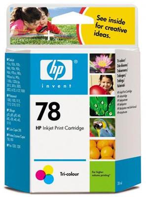 Inkoust HP 78A / C6578A originální, barevný, 38 ml