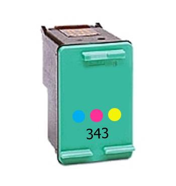 Inkoust HP 343 / C8766E kompatibilní, barevný, 18 ml !! --- 2,5x více inkoustu