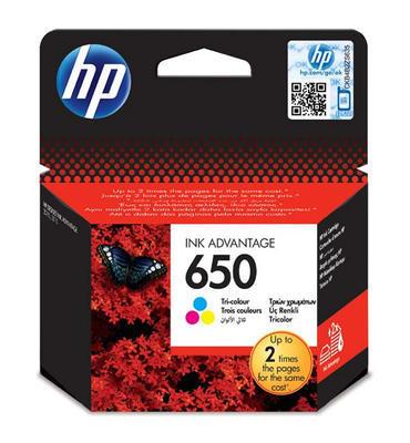 Inkoust HP 650 / CZ102AE originální, barevný, 5 ml, 200 str.
