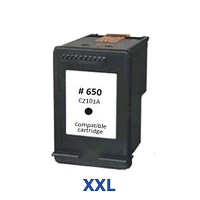 Inkoust HP 650 XXL / 650 XL / CZ101AE kompatibilní, černý --- 3 x více inkoustu !!