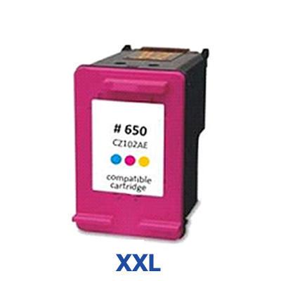 Inkoust HP 650 XXL / 650 XL / CZ102AE kompatibilní, barevný --- 3 x více inkoustu!!