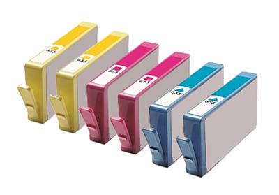 ** Sada 6 inkoustů HP 655 / CZ11x CMY do tiskáren HP se slevou 15 % !!
