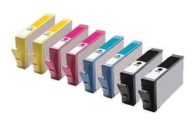 ** Sada 8 inkoustů HP 655 / CZ1xx CMYK do tiskáren HP se slevou 20 % !!