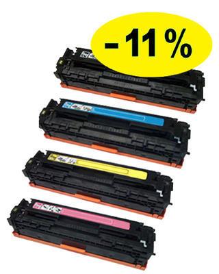 ** Sada 4 tonerů CMYK kompatibilní s HP CB540,1,2,3A se slevou 11 % !!