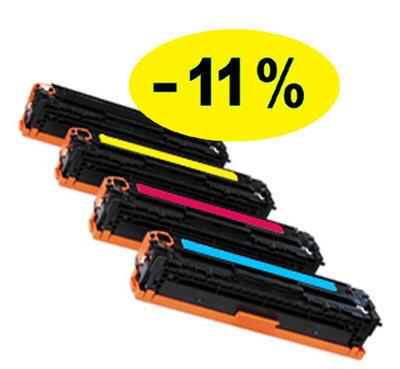 ** Sada 4 tonerů CMYK kompatibilní s Canon CRG-718 se slevou 11 % !!
