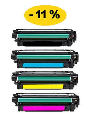 ** Sada 4 tonerů CMYK kompatibilní s HP CE400X, 401,2,3A se slevou 11 % !!