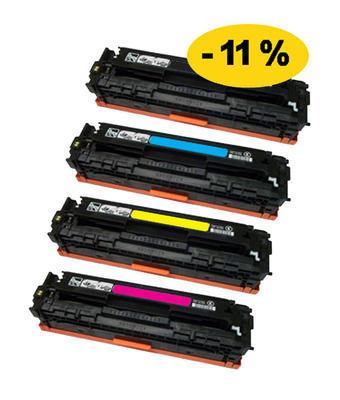 ** Sada 4 tonerů CMYK kompatibilní s HP CC530,1,2,3A se slevou 11 % !!