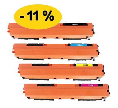 ** Sada 4 tonerů CMYK kompatibilní s HP CF350,1,2,3A se slevou 11 % !!