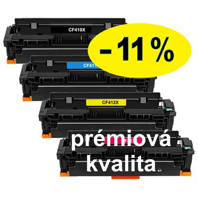 ** Sada 4 tonerů CMYK kompatibilní s HP CF410,1,2,3X se slevou 11 % !! - PRÉMIUM - 1