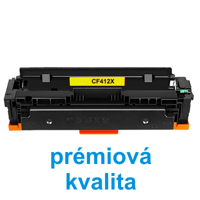 Toner HP CF412X / HP CLJ Pro M452 kompatibilní, žlutý, 5.000 str. !! - PRÉMIUM