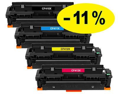 ** Sada 4 tonerů CMYK kompatibilní s HP CF410,1,2,3X se slevou 11 % !!