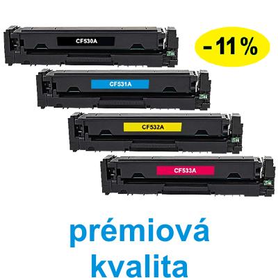 ** Sada 4 tonerů CMYK kompatibilní s HP CF530,1,2,3A se slevou 11 % !! - PRÉMIUM - 1