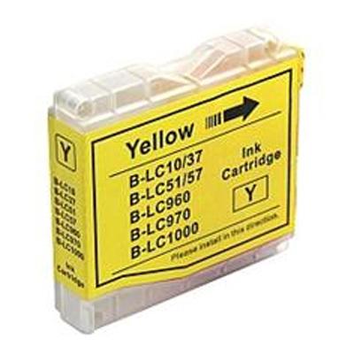 Inkoust LC-1000Y kompat. s Brother LC-1000Y, LC-970Y, žlutý, 20 ml !!